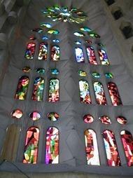 Salou 069 sagrada familia stained glass