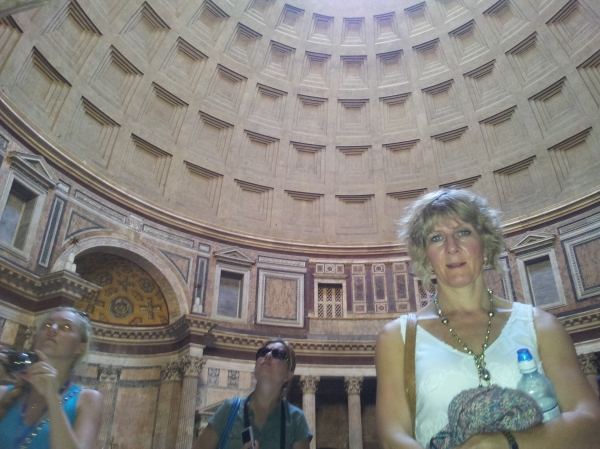 Inside the Pantheon...