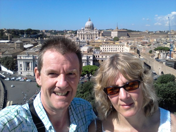 St Peter's Basilica from the top of Castel Sant'Angelo