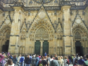 The entrance to the St Vitus Cathedral