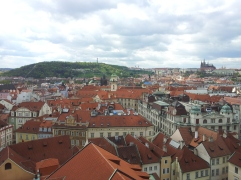Petrin Hill and Prague Castle, from the Clock Tower