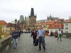 Charles Bridge, the Lesser Town Bridge Tower, and Prague Castle