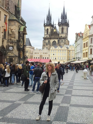 Old Town Square, Astronomical Clock and the Tyn Church, Prague