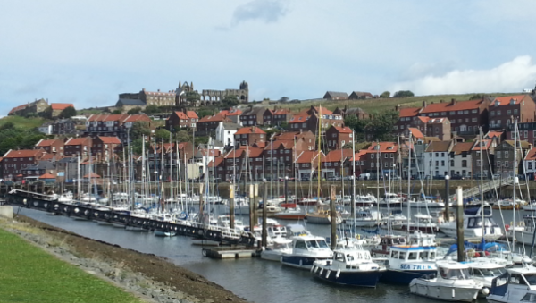 Whitby Abbey ruins, and the Marina