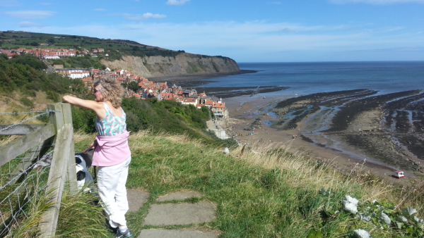 Coastal Path overlooking Robin Hood's Bay village