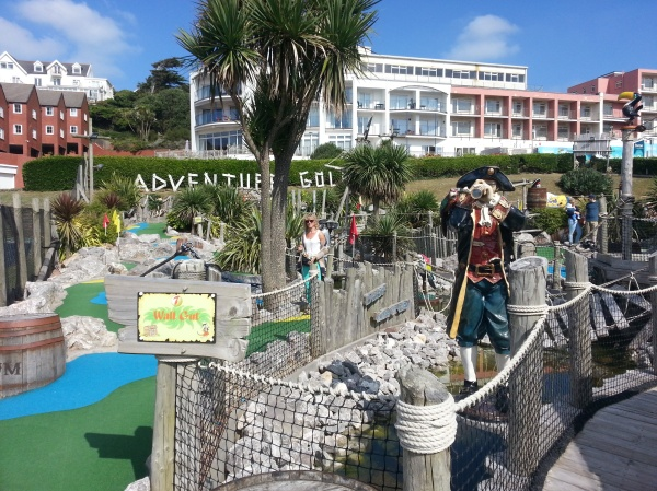 Pirate Golf in Woolacombe. Arrr!