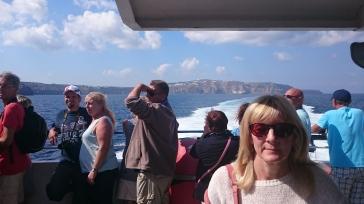 Approaching Santorini