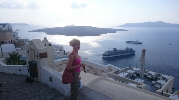 View from Fira, capital of Santorini