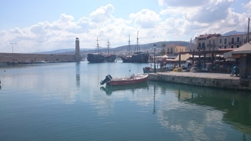 Venetian Lighthouse and the Pirate Ships, Rethymno Inner Harbour