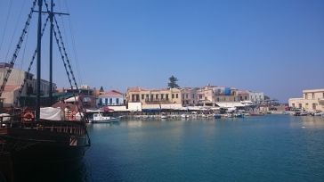 View of Rethymno Inner Harbour from the Barbarossa