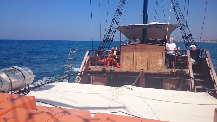 The Barbarossa, returning to Rethymno