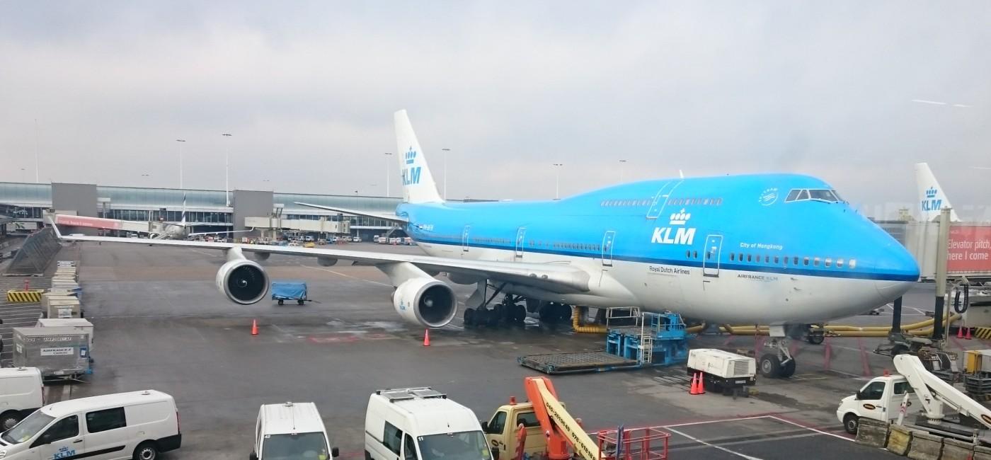 KLM Jumbo Boeing 747-400 at Amsterdam