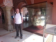Giant silver urn at the City Palace Museum