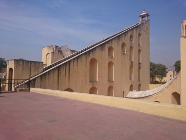 Samrat Yantra, a giant 27 metre high sundial at the Jantar Mantar