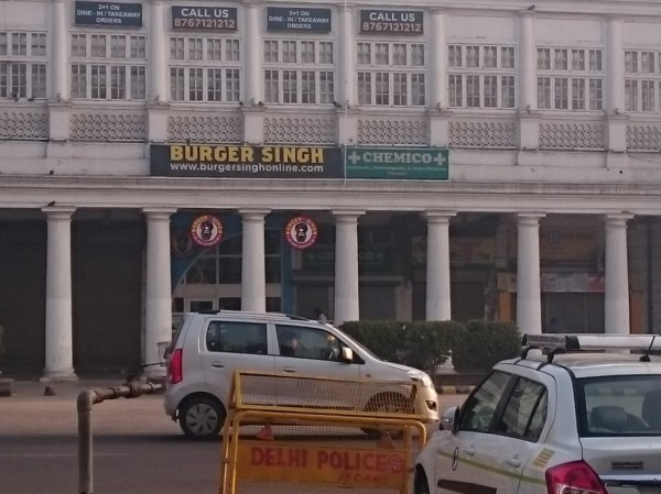 'Burger Singh' fast food restaurant, opposite the hotel (!)
