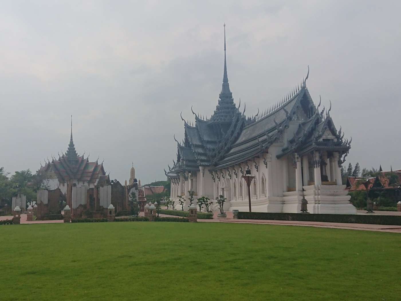 Reconstruction of the Sanphet Prasat Palace in Ayutthaya