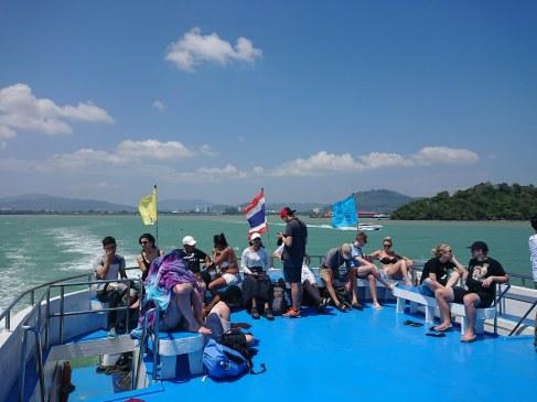 Andaman Wavemaster Ferry leaving Phuket