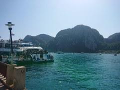 The landing piers at Phi Phi