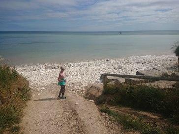 White cobble beach at Dane's Dyke