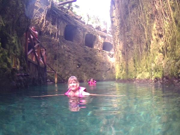 Deborah in the underground river