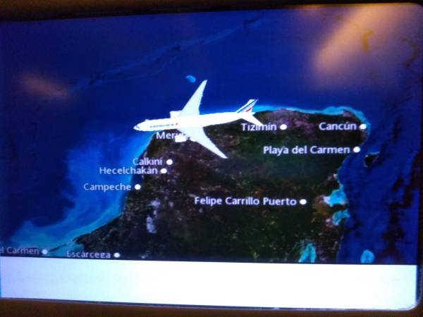 Diverted from Cancún to Mérida