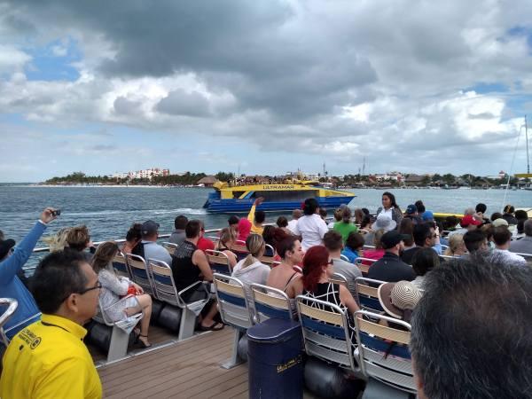 UltraMar ferries approaching Isla Mujeres