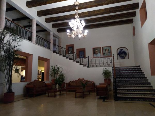 Entrance hall of the hacienda, Mayaland Hotel