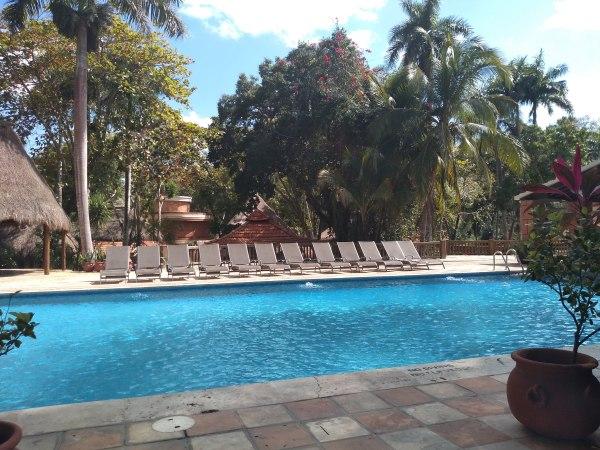 The pool at Mayaland