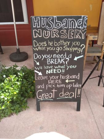 Great sign outside a bar in Playa's shopping area!