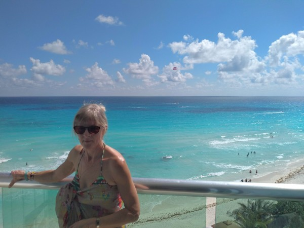 View of the Caribbean from our balcony
