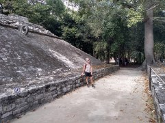 One of two ball courts at Cobá