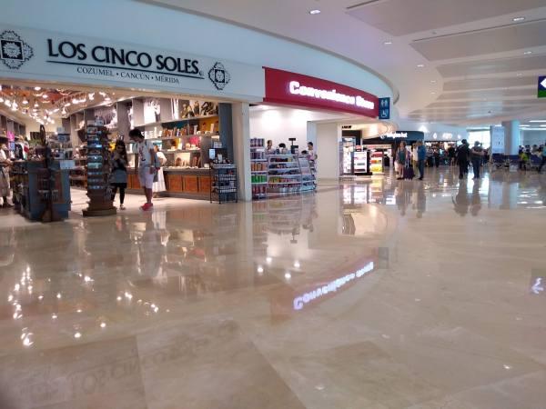 Cancún airport concourse