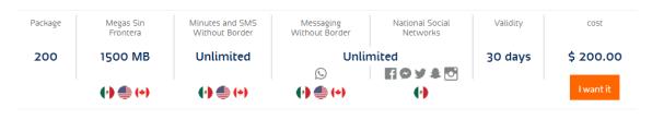 Telcel package