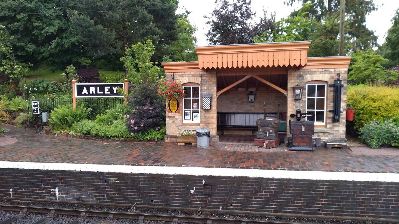 Platform 2 at Arley station