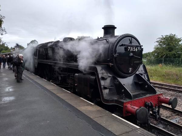 BR Standard Class 5 '73156' at Rothley station