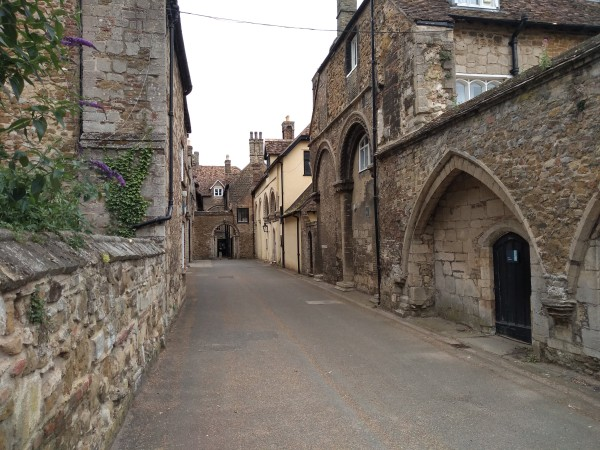 Firmary Lane and the Chapel of the Infirmary, tucked away behind Ely Cathedral