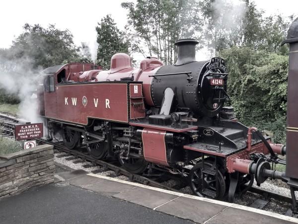 2-6-2T BR Ivatt class 2MT No.41241 at Oakworth station