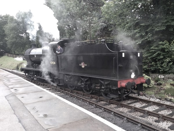 Midland 4F on the run-round loop at Oxenhope
