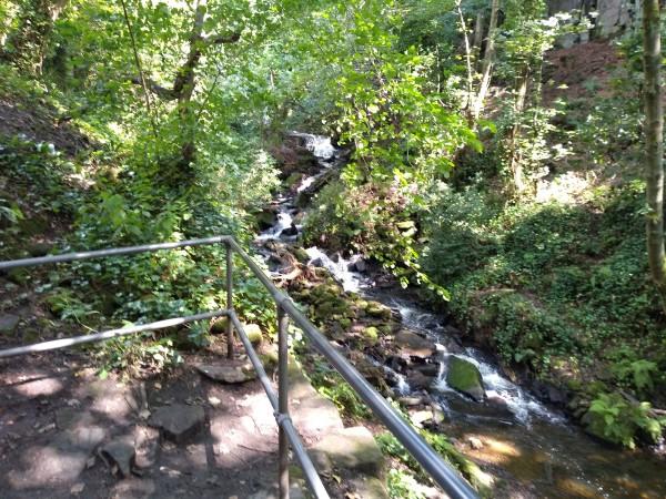Bentley Brook near Lumsdale Falls