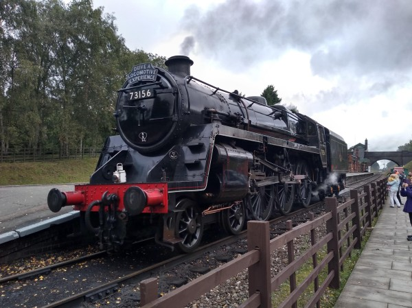 BR Standard Class 5 No.73156 at Rothley station