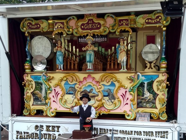 Fairground Organ at Rothley station
