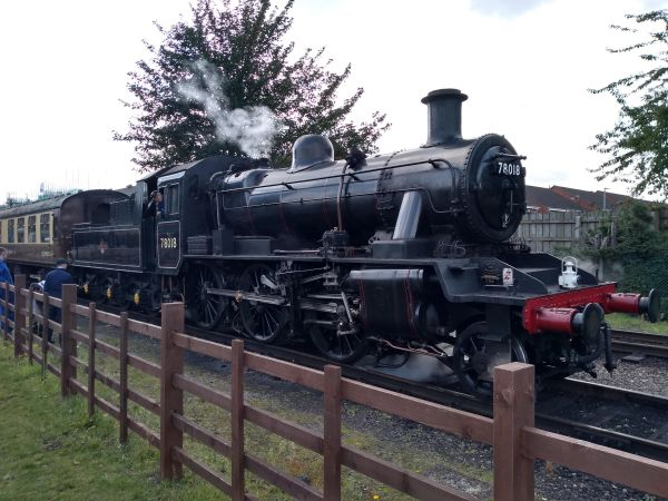 BR Standard Class 2MT at Loughborough station