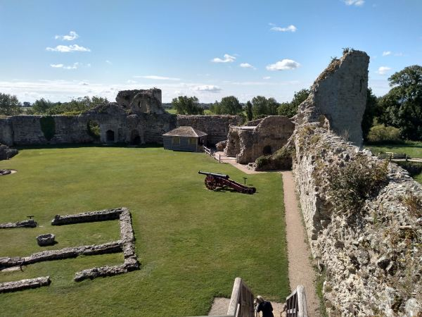 View of Pevensey Castle from the battlements