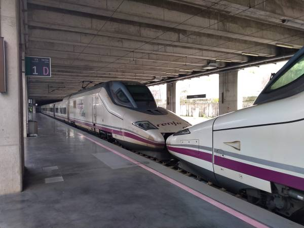 AVE trains at Málaga