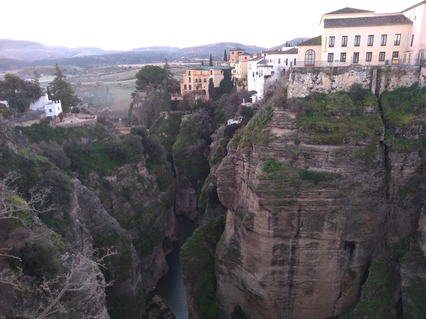 The hilltop town of Ronda