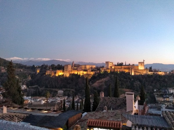 The Alhambra at Sunset