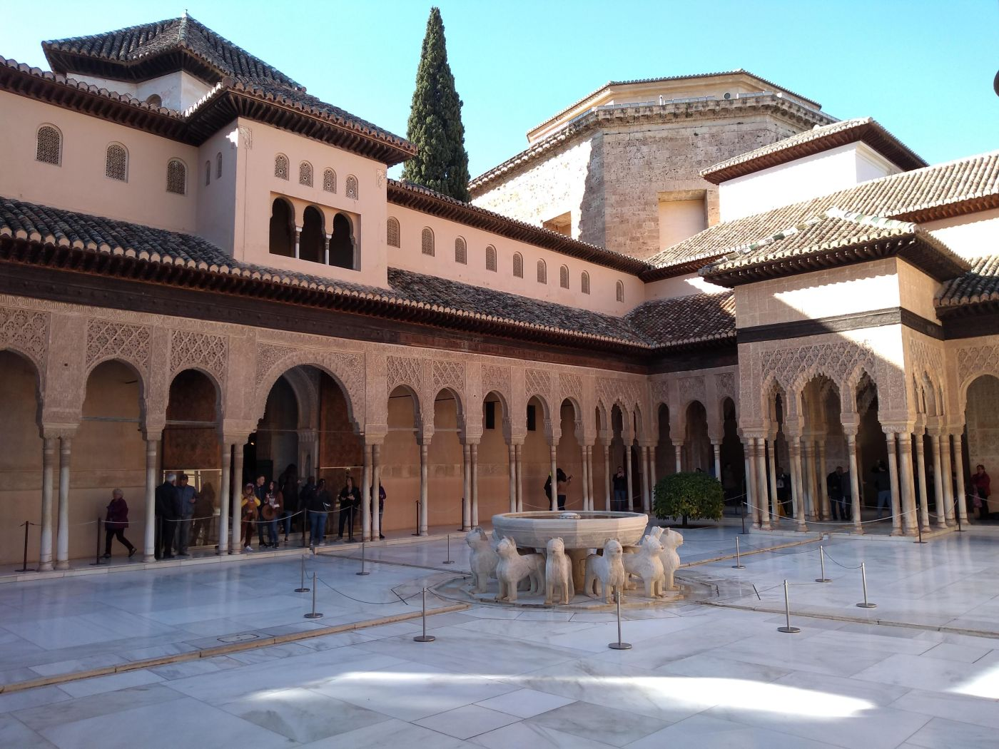 Courtyard scene typical of the Nasrid Palaces