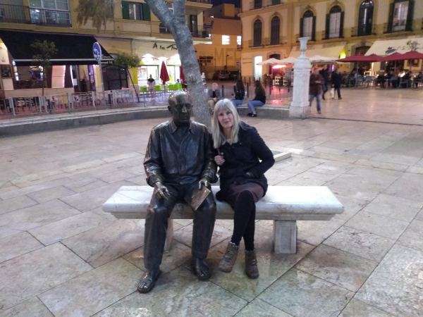 Picasso in the Plaza de la Merced