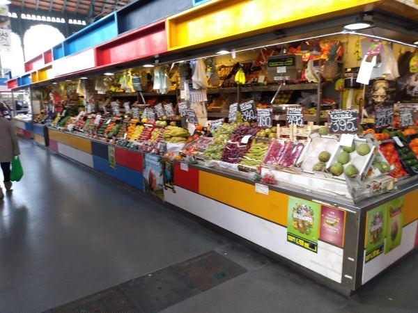 Fruit Stall inside the Atarazanas Market Hall