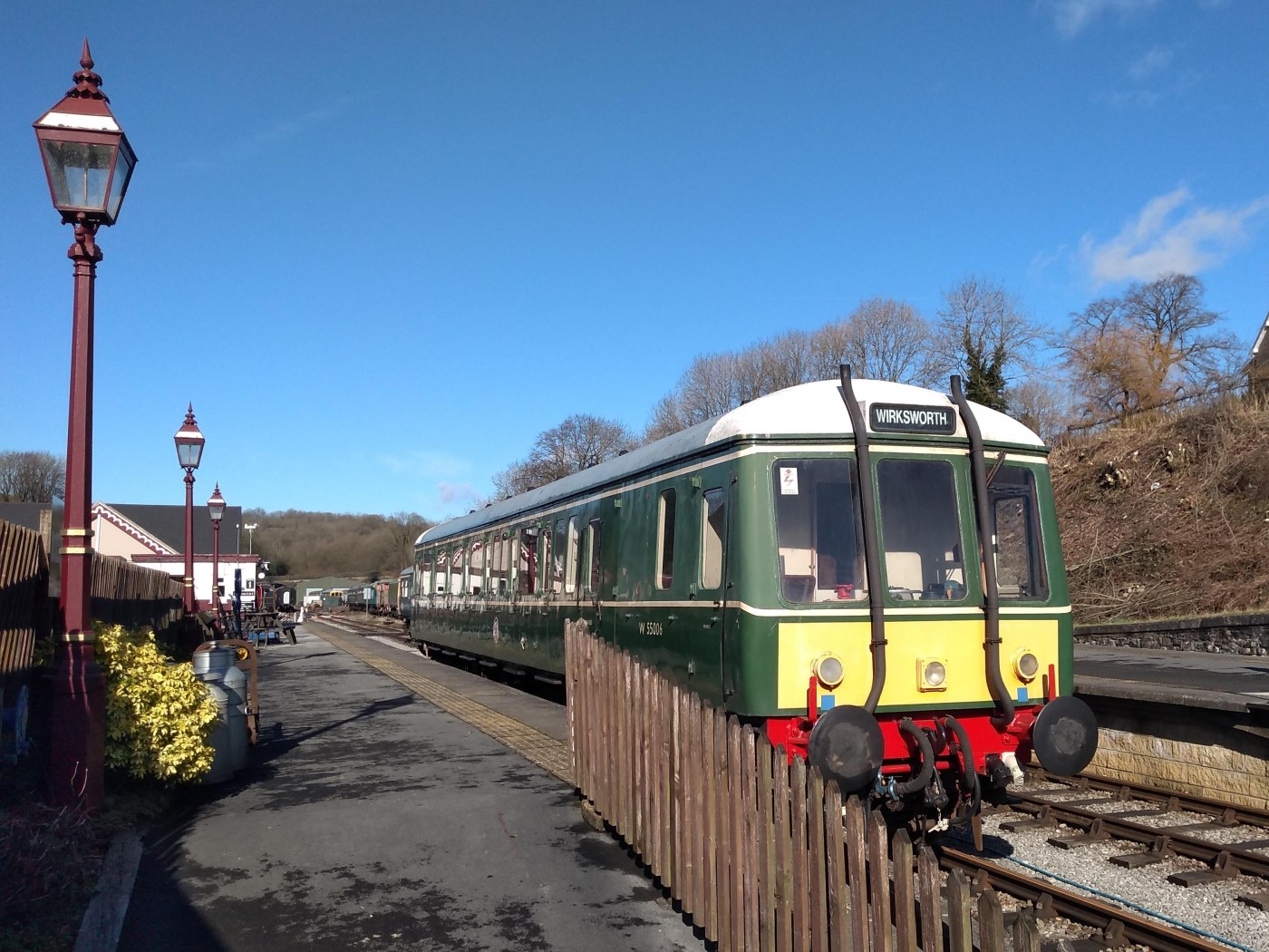 Diesel Railcar at Wirksworth Station